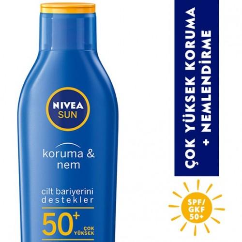 Nivea Sun Koruma&Nem Nemlendirici Güneş Losyonu Gkf 50+ 200 Ml