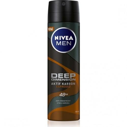Nivea Men Deep Dimension Espresso Sprey Deodorant 150 ml Erkek